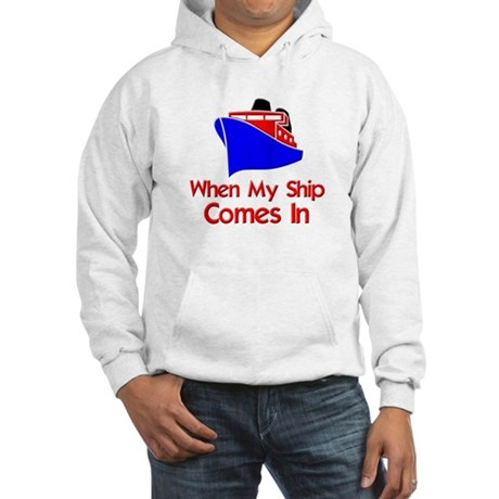 funny ship boat Hooded Sweatshirt