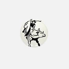 bull rider Mini Button