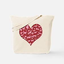 Horsey Heart Tote Bag