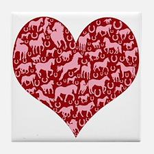 Horsey Heart Tile Coaster