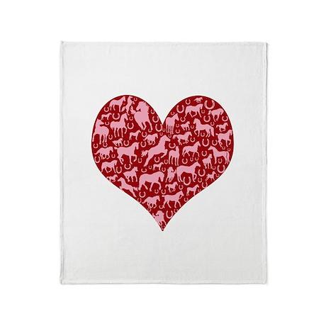 Horsey Heart Throw Blanket