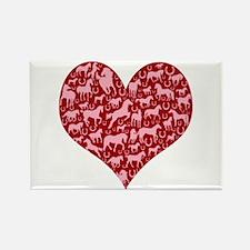 Horsey Heart Rectangle Magnet