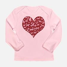 Horsey Heart Long Sleeve Infant T-Shirt