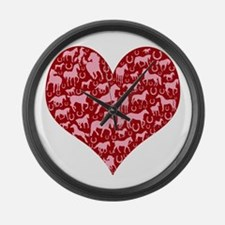 Horsey Heart Large Wall Clock