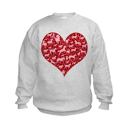 Horsey Heart Kids Sweatshirt