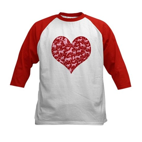 Horsey Heart Kids Baseball Jersey