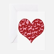 Horsey Heart Greeting Cards (Pk of 20)