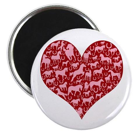 """Horsey Heart 2.25"""" Magnet (10 pack)"""