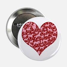 """Horsey Heart 2.25"""" Button"""