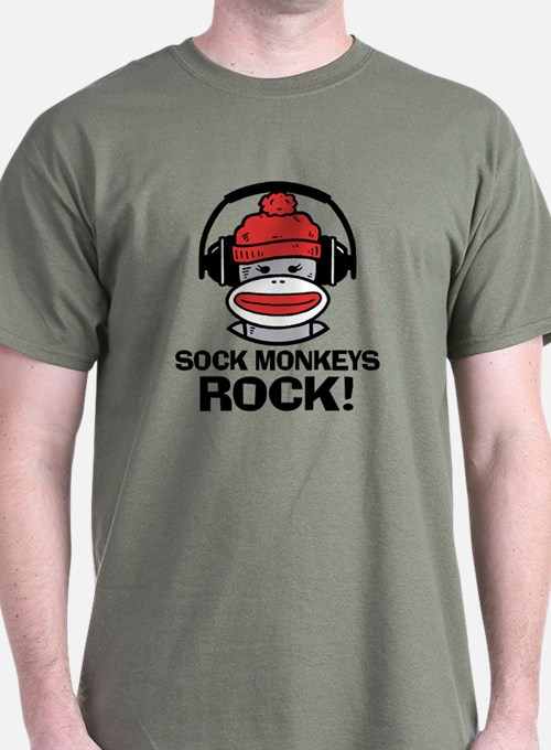 Sock Monkeys Rock T-Shirt