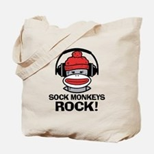 Sock Monkeys Rock Tote Bag