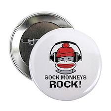 """Sock Monkeys Rock 2.25"""" Button"""