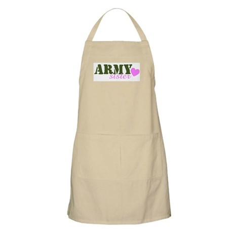 Army Sister Green & Heart BBQ Apron