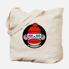 Sock Monkeys with 3D Glasses Tote Bag