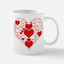Red Hearts a Plenty Mug