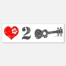 Love 2 Ukulele Bumper Bumper Sticker