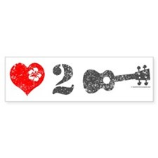 Love 2 Ukulele Bumper Sticker