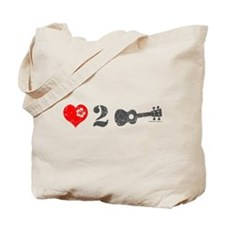Love 2 Ukulele Tote Bag