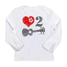 Love 2 Ukulele Light Long Sleeve Infant T-Shirt