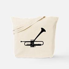 Dizzy's Horn Dark Silhouette Tote Bag