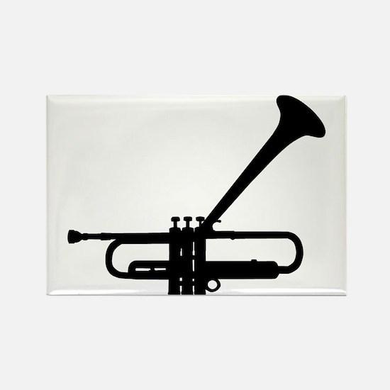Dizzy's Horn Dark Silhouette Rectangle Magnet