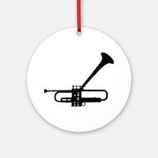 Dizzy's Horn Dark Silhouette Ornament (Round)