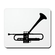 Dizzy's Horn Dark Silhouette Mousepad
