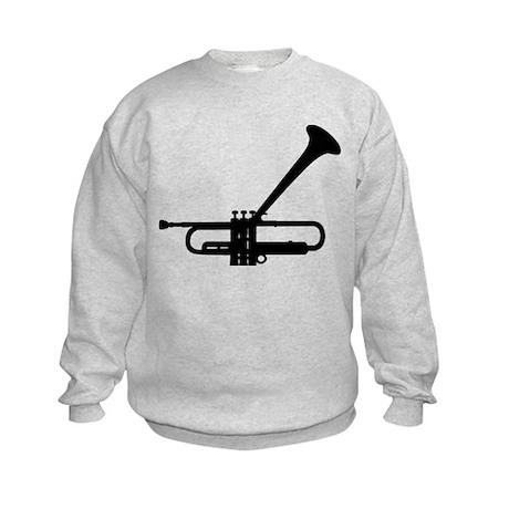 Dizzy's Horn Dark Silhouette Kids Sweatshirt
