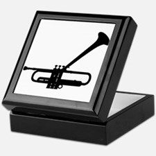 Dizzy's Horn Dark Silhouette Keepsake Box