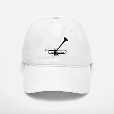 Dizzy's Horn Dark Silhouette Baseball Baseball Cap