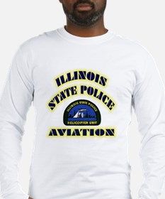 Illinois State Police Aviatio Long Sleeve T-Shirt