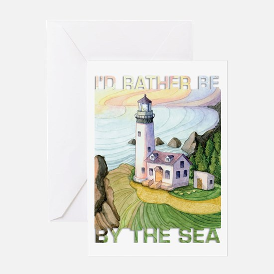 I'd Rather Be by the Sea Greeting Card