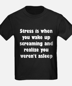 Stress is when... T
