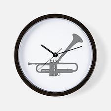 Dizzy's Horn Silver Silhouett Wall Clock