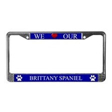 Blue We Love Our Brittany Spaniel Frame