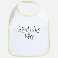 St. Patricks Day Birthday Boy Bib