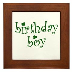 St. Patricks Day Birthday Boy Framed Tile