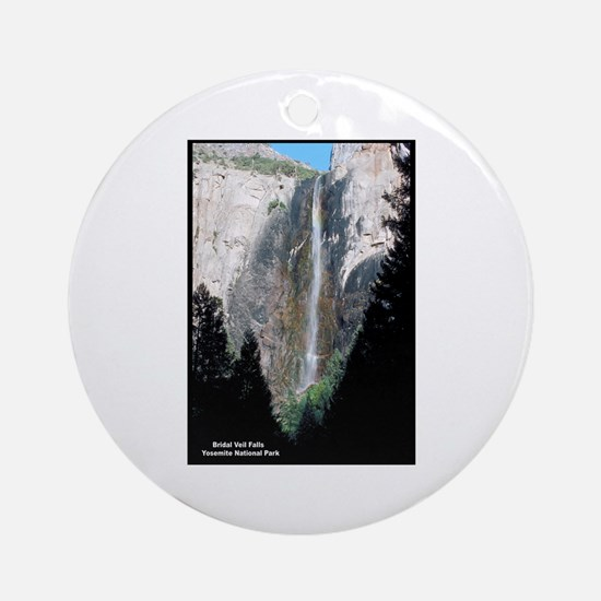 Yosemite Bridal Veil Falls Ornament (Round)