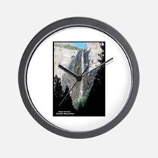 Yosemite Bridal Veil Falls Wall Clock