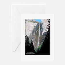 Yosemite Bridal Veil Falls Greeting Cards (Package