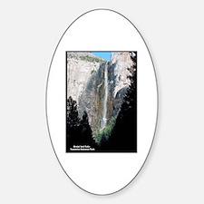 Yosemite Bridal Veil Falls Oval Decal