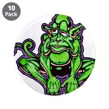 "Leprechaun elf 3.5"" Button (10 pack)"