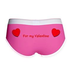 Valentine's Day Hearts Women's Boy Brief Underwear