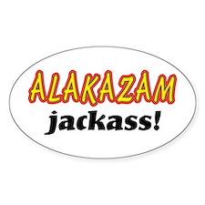 Alakazam Jackass Sticker (Oval)