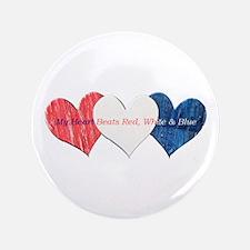 """Patriotic Hearts Button (3.5"""")"""