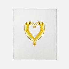 banana slug heart Throw Blanket