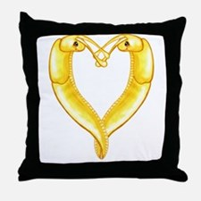 banana slug heart Throw Pillow