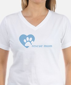 "women's v-neck - ""rescue mom"""