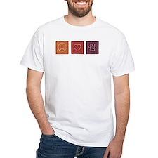 tshirt (white) - peace, love, rescue