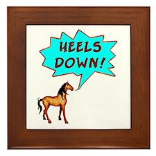 Heels Down with Horse  Framed Tile